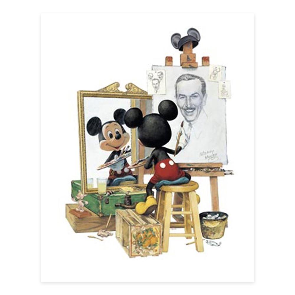 Walt Disney ''Triple Self Portrait'' by Charles Boyer