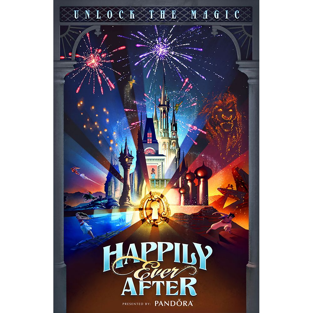 Walt Disney World ''Happily Ever After'' Giclée