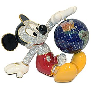 Mickey Mouse Figurine with Globe by Arribas