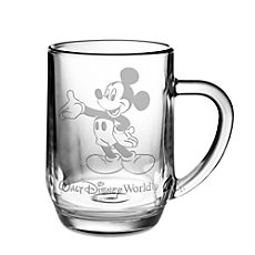 Mickey Mouse Glass Mug by Arribas