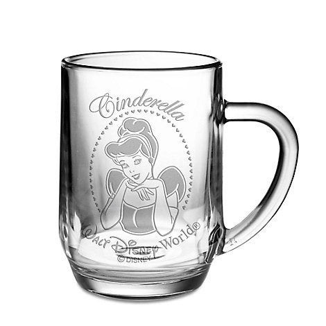 Cinderella Glass Mug by Arribas - Personalizable