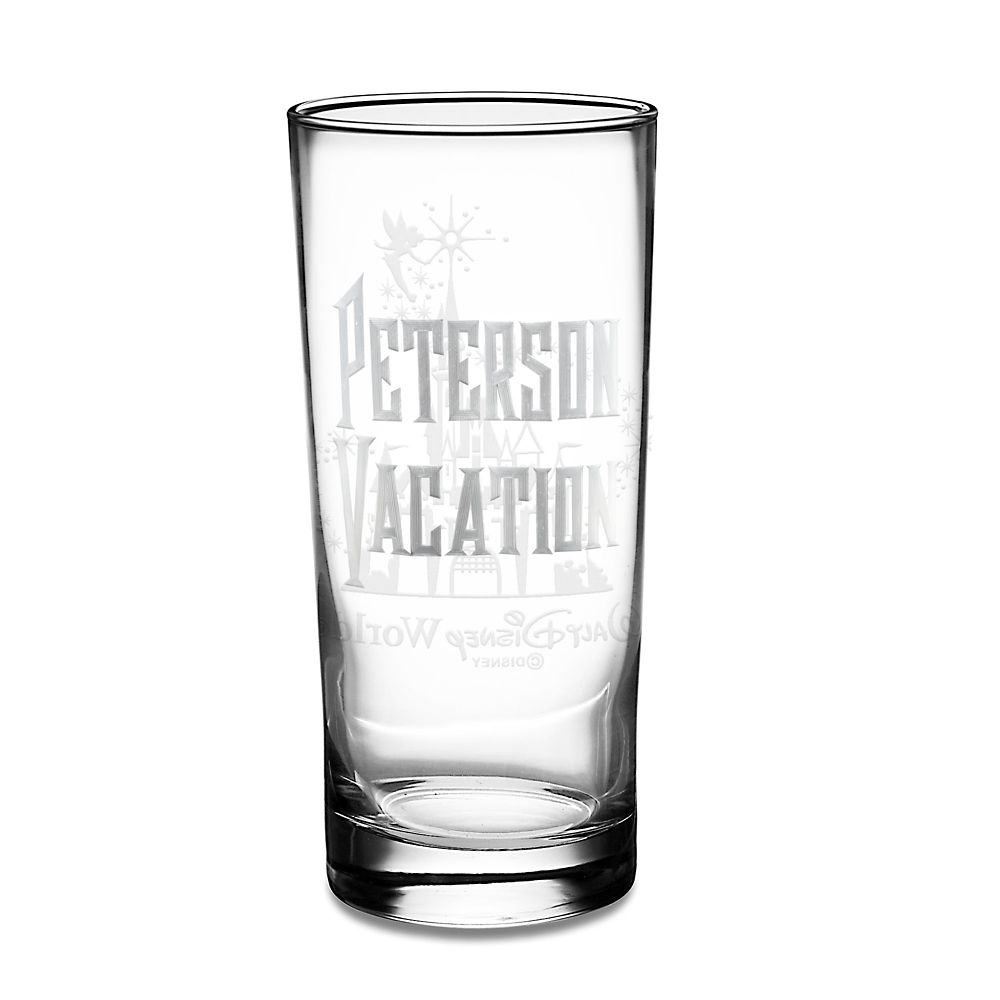 Walt Disney World Castle and Tinker Bell Glass Tumbler by Arribas – Personalizable