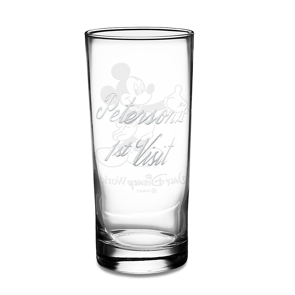 Mickey Mouse Glass Tumbler by Arribas – Personalizable