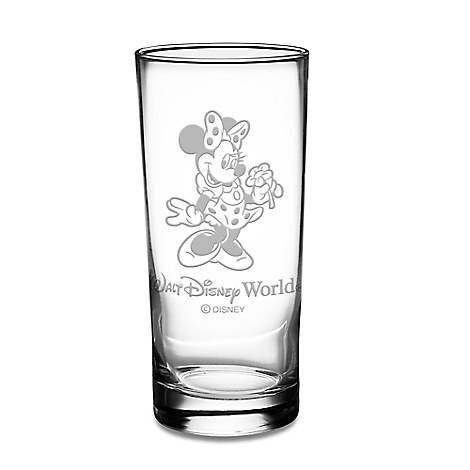 Minnie Mouse Glass Tumbler by Arribas - Personalizable