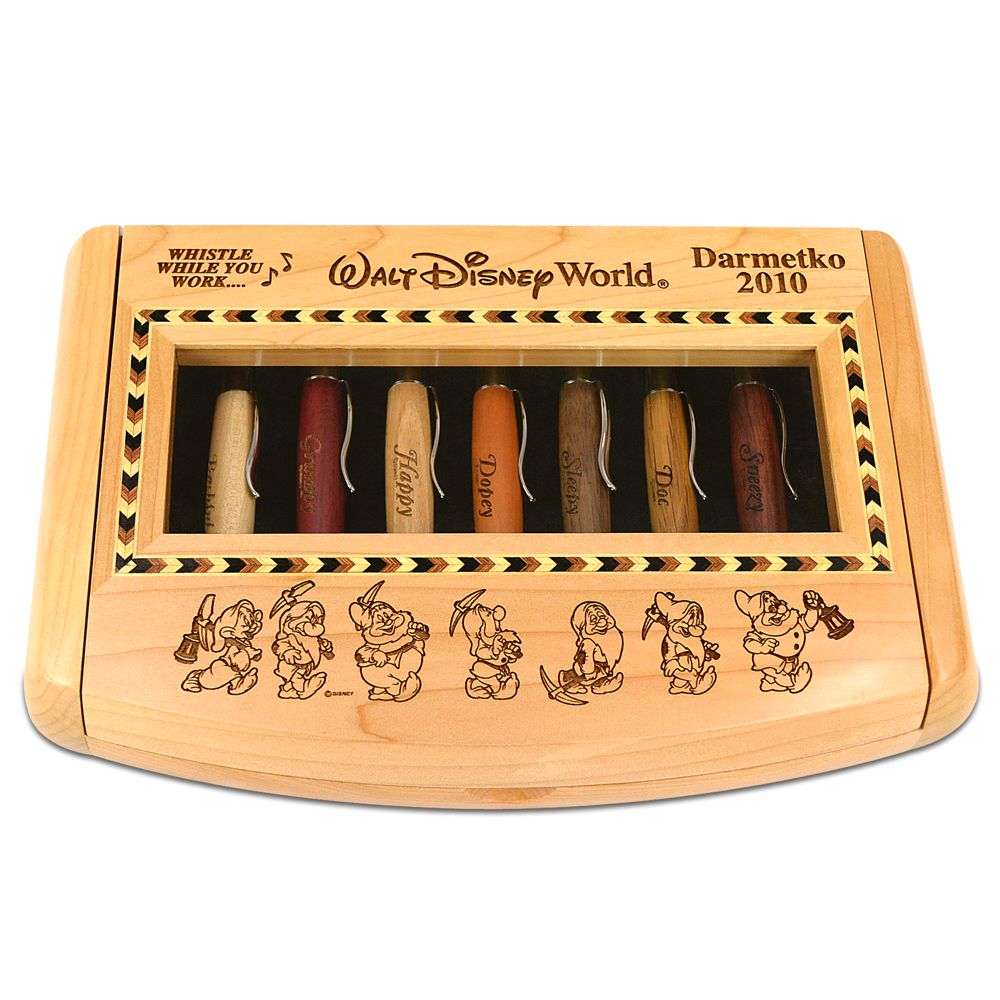 Seven Dwarfs Pen Set by Arribas – Personalizable