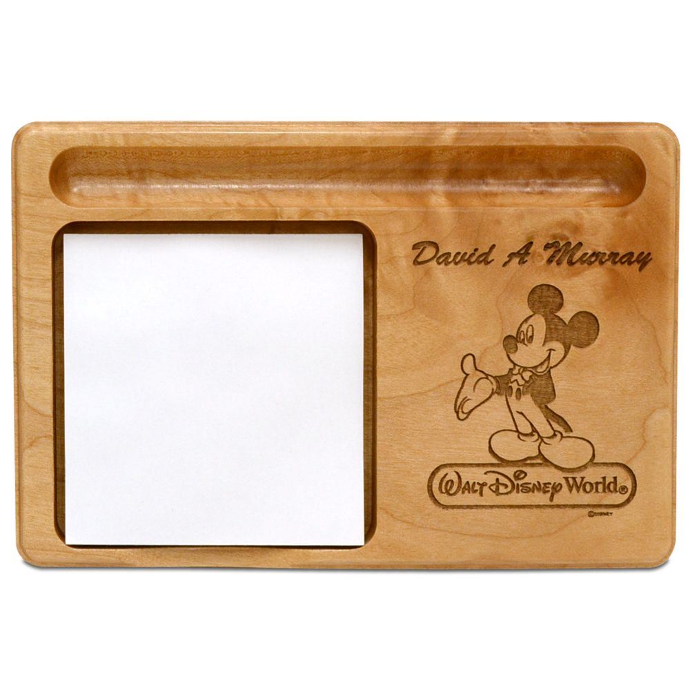 Walt Disney World Mickey Mouse Memo Holder by Arribas – Personalizable