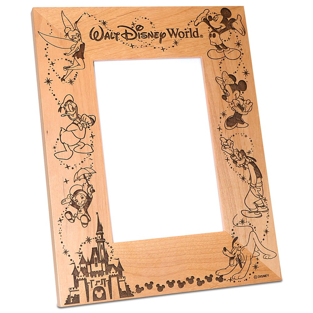 Walt Disney World Cinderella Castle Photo Frame by Arribas – Personalizable