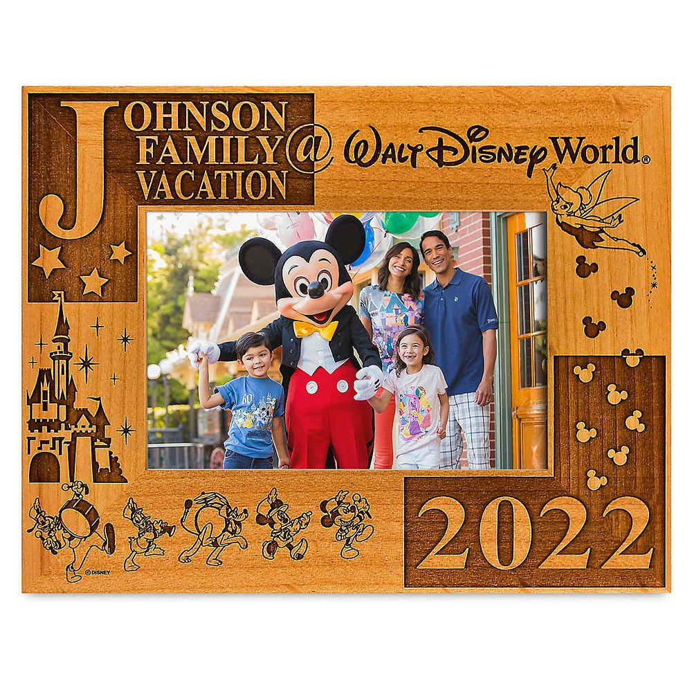 Walt Disney World 2021 Frame by Arribas – 4'' x 6'' – Personalized