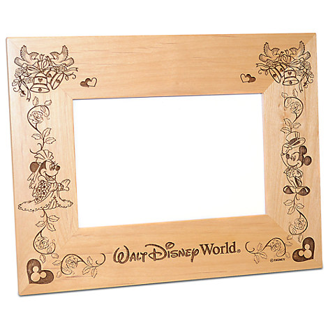 Walt Disney World Minnie and Mickey Mouse Wedding Photo Frame by Arribas - Personalizable