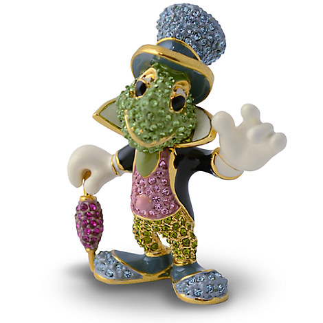 Jiminy Cricket Figurine by Arribas - Jeweled 1 3/4'