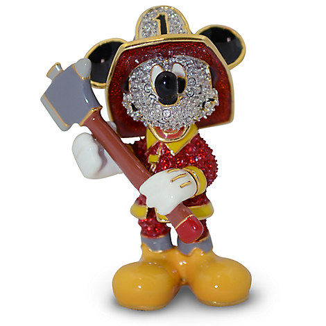 Fireman Mickey Mouse Figurine by Arribas - Jeweled