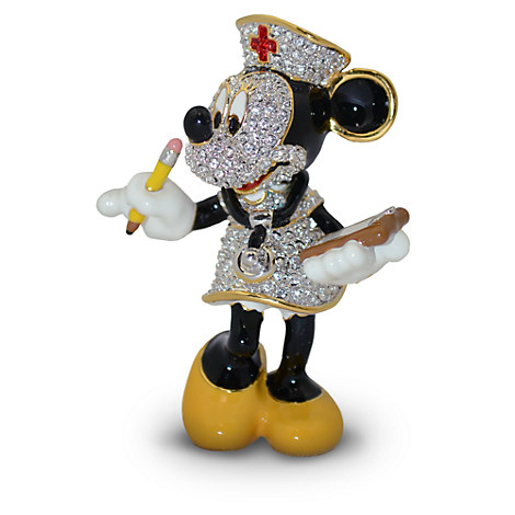 Nurse Minnie Mouse Figurine by Arribas - Jeweled