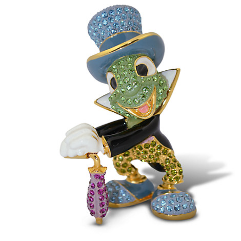 Jiminy Cricket Figurine by Arribas - Jeweled 3'' H