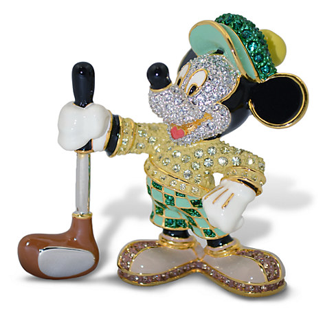 Golfer Mickey Mouse Jeweled Figurine by Arribas