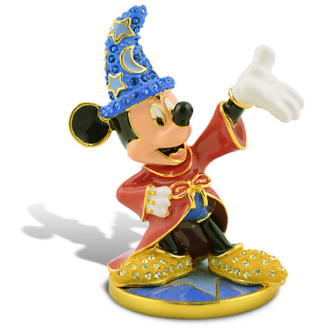 Limited Edition Sorcerer Mickey Mouse Jeweled Figurine by Arribas