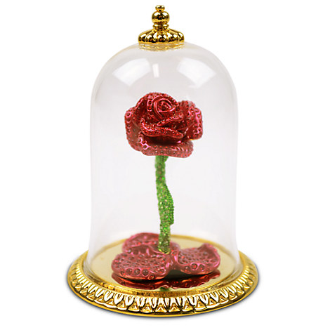 Jeweled Beauty and the Beast Enchanted Rose by Arribas - Limited Edition