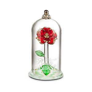 Beauty and the Beast Enchanted Rose Glass