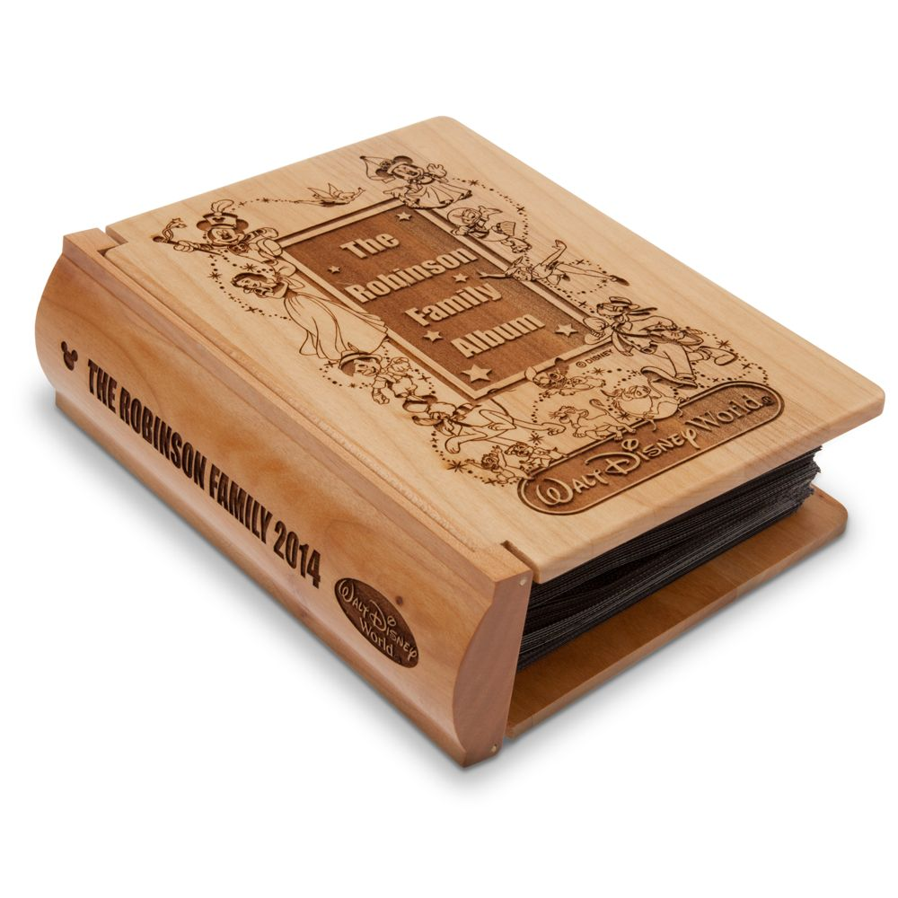 Walt Disney World Wood Photo Album by Arribas – Personalizable