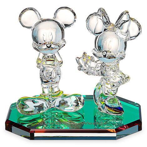 Mickey and Minnie Mouse Large Figurine by Arribas - Walt Disney World
