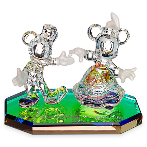 Mickey and Minnie Mouse Dancing Figurine by Arribas - Walt Disney World