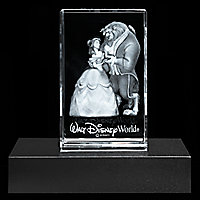 Beauty and the Beast Laser Cube by Arribas - Walt Disney World