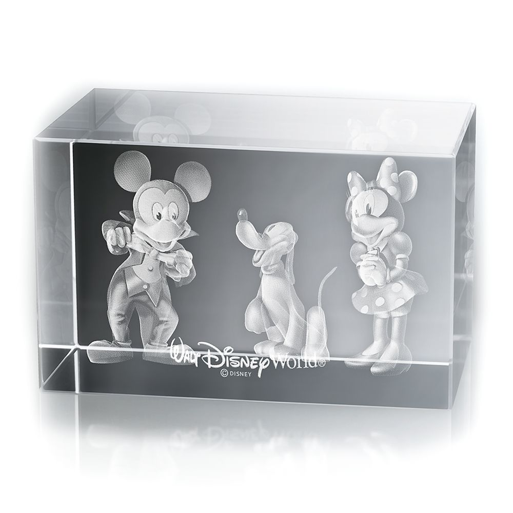 Mickey and Minnie Mouse, and Pluto Laser Cube by Arribas – Walt Disney World