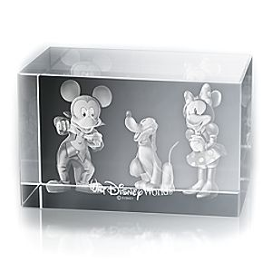 Mickey and Minnie Mouse, and Pluto Laser