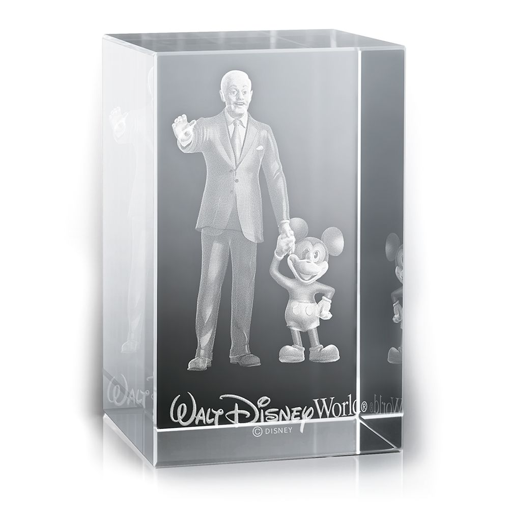 Mickey Mouse and Walt Disney Laser Cube by Arribas  Walt Disney World