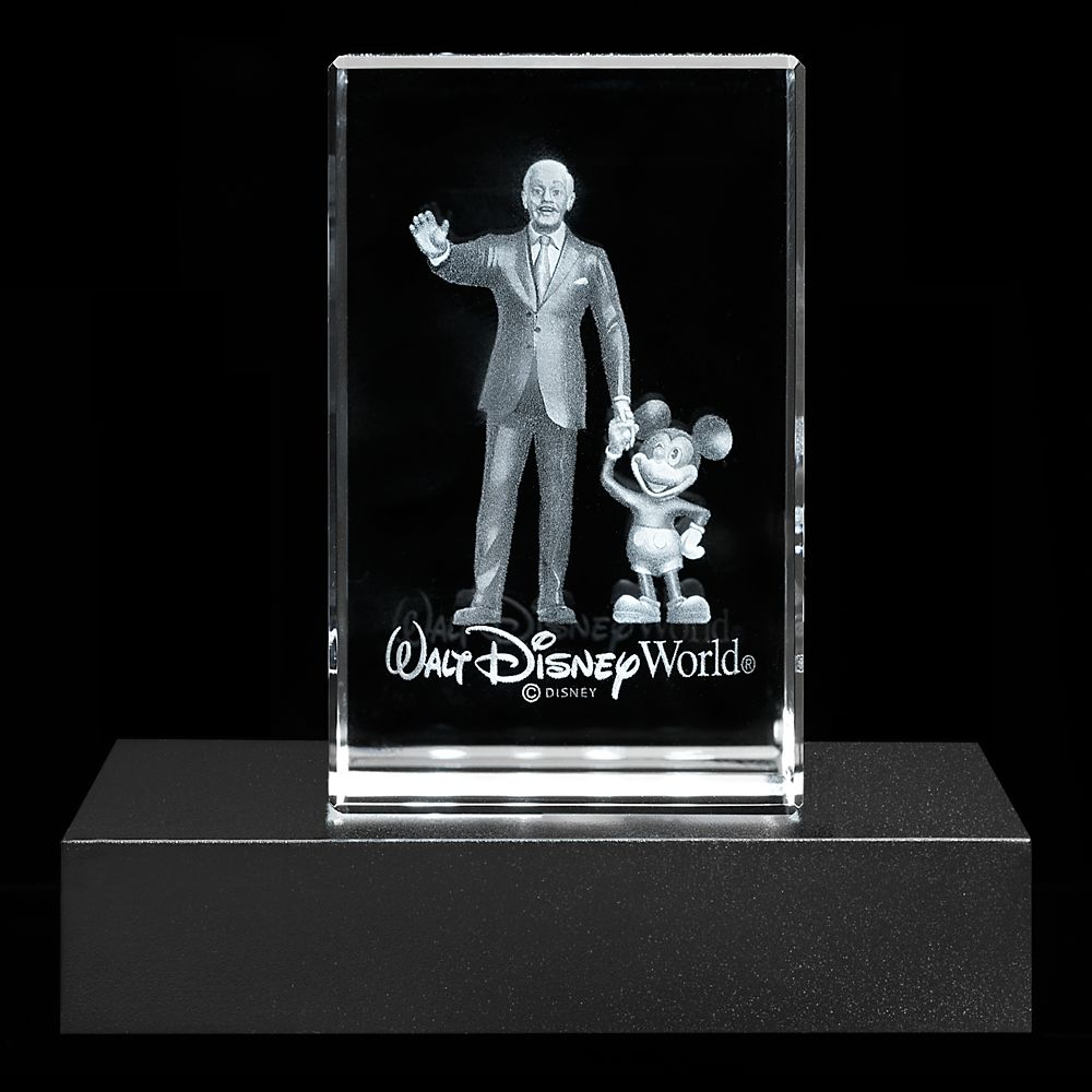 Mickey Mouse and Walt Disney Laser Cube by Arribas – Walt Disney World