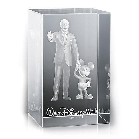 Mickey Mouse and Walt Disney Laser Cube by Arribas - Walt Disney World