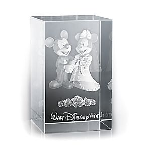Mickey and Minnie Mouse Wedding Laser Cube