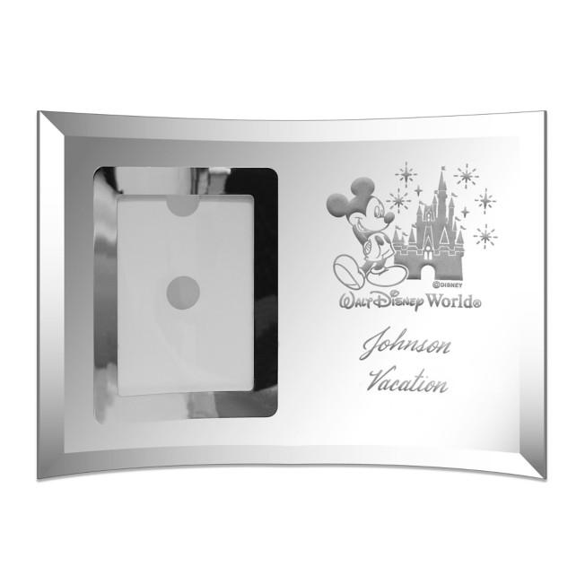 Walt Disney World Glass Frame by Arribas – Small – Personalized