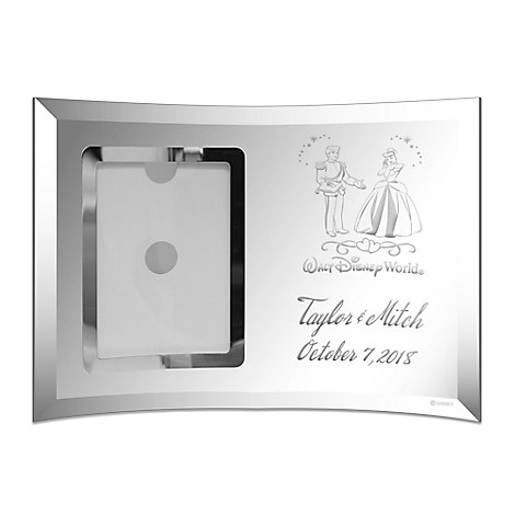 Cinderella and Prince Charming Glass Frame by Arribas - Personalizable