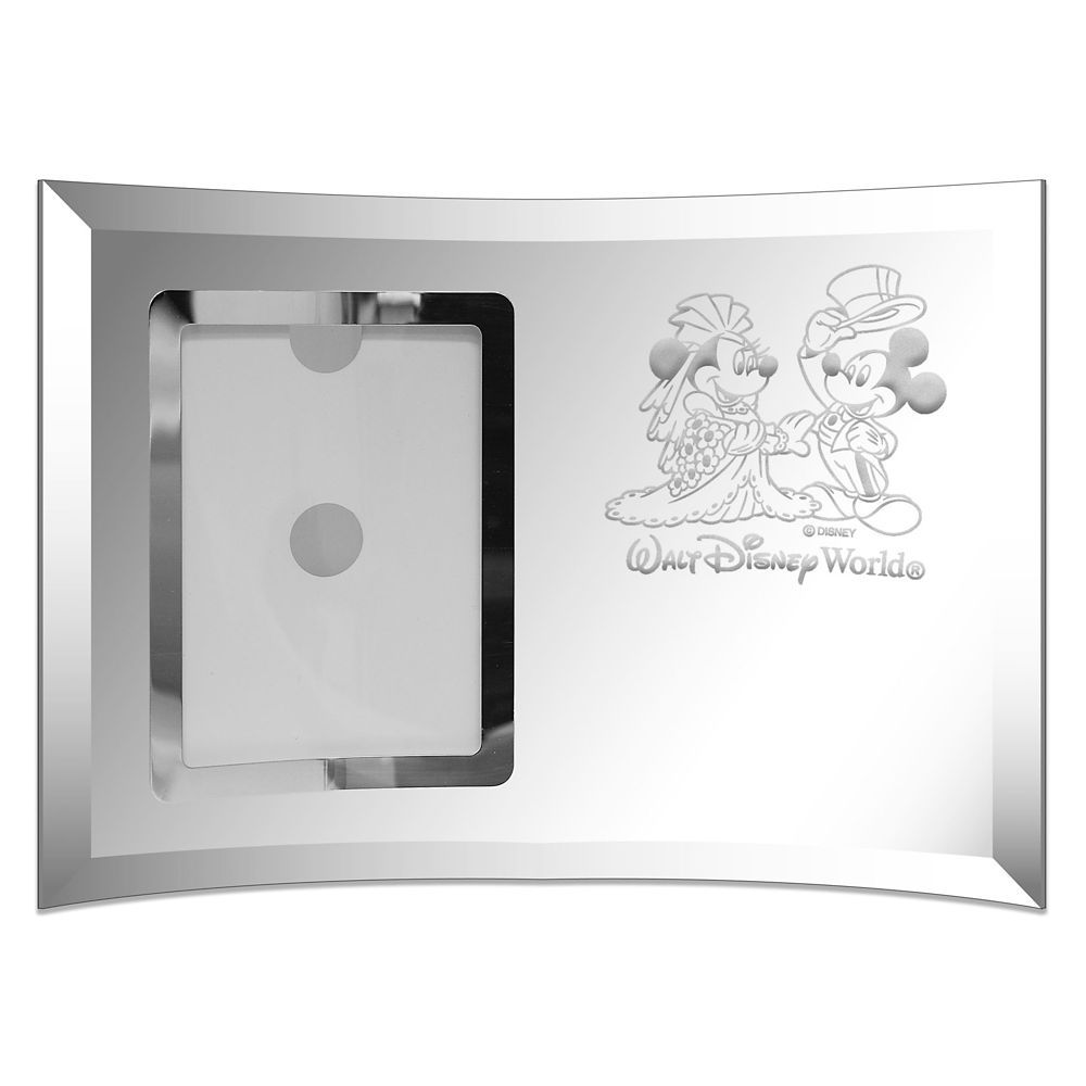 Mickey and Minnie Mouse Glass Frame by Arribas – Personalized