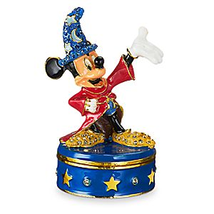 Sorcerer Mickey Mouse Trinket Box by Arribas