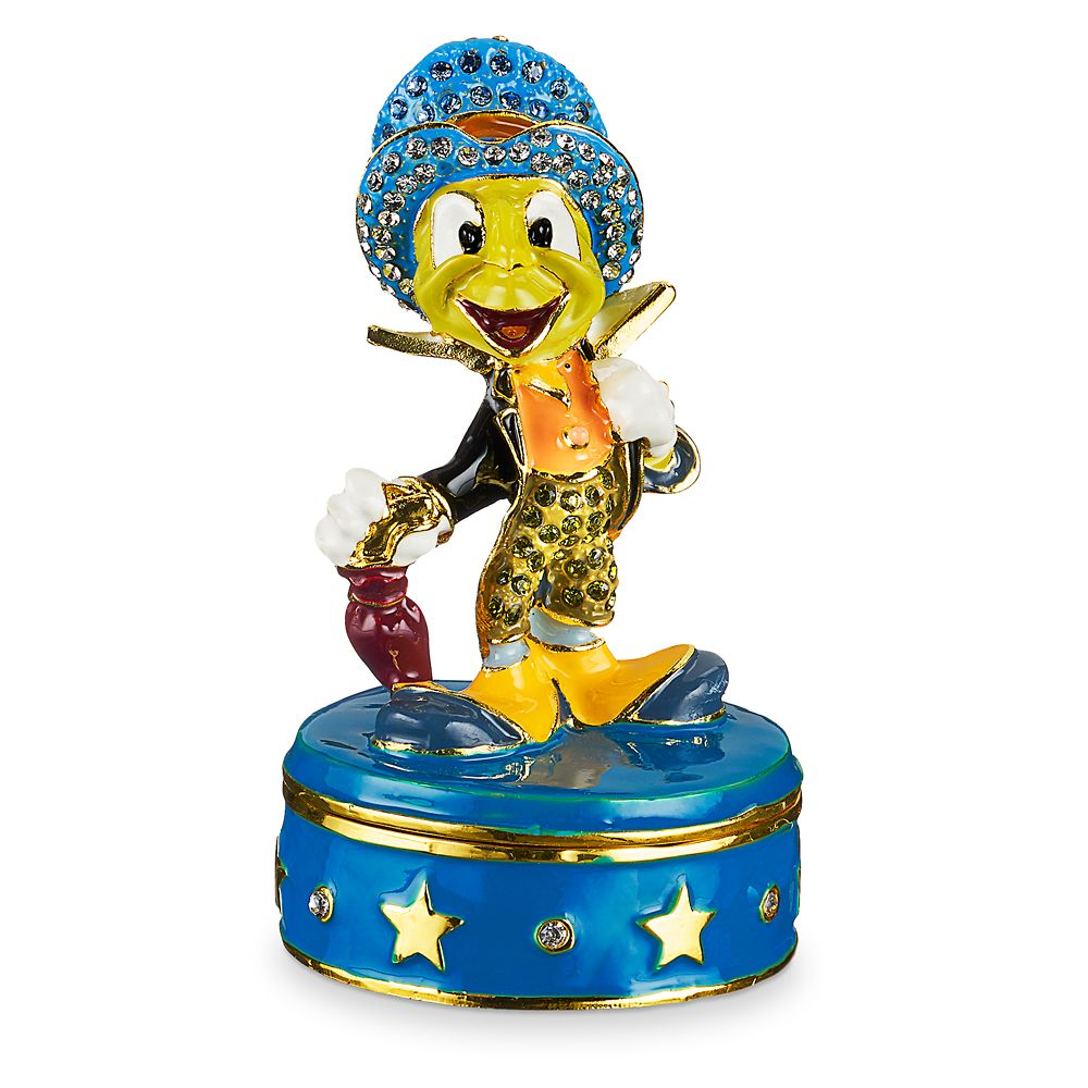 Jiminy Cricket Trinket Box by Arribas Brothers