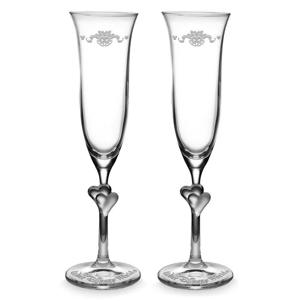 Walt Disney World Glass Flutes by Arribas – Personalizable