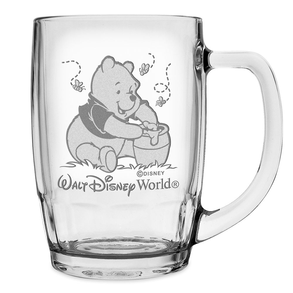 Winnie the Pooh Glass Mug by Arribas – Personalizable