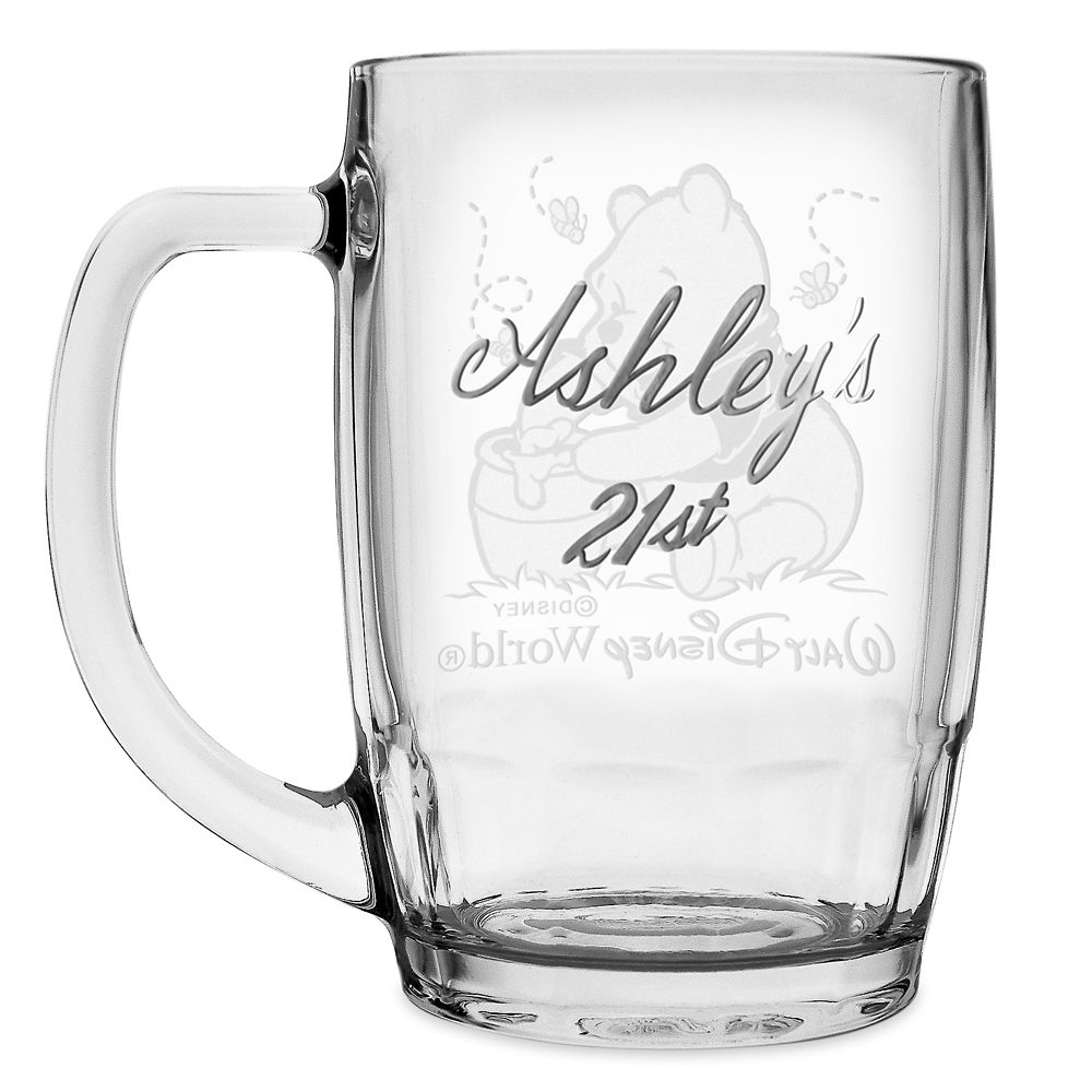 Winnie the Pooh Glass Mug by Arribas – Personalized