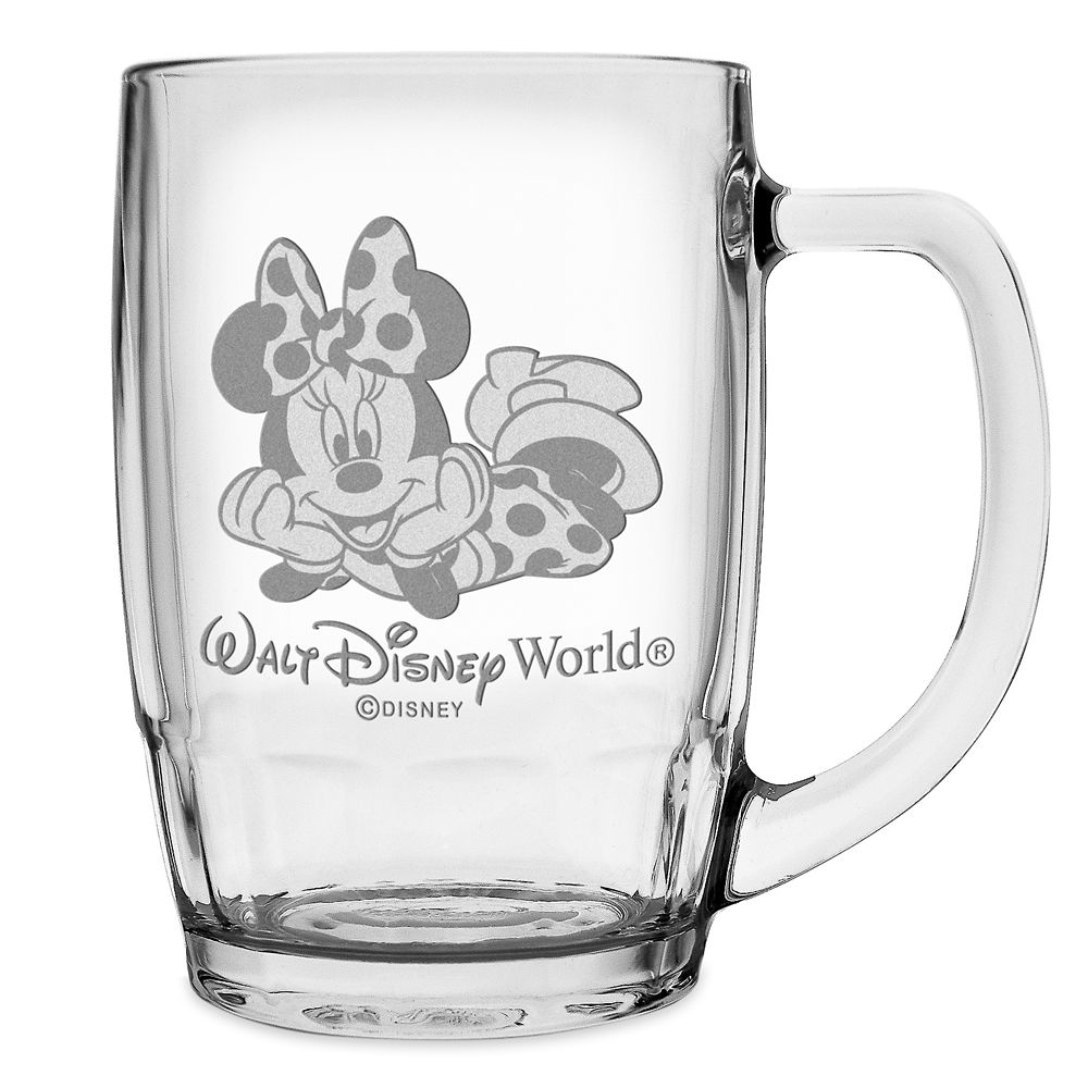Minnie Mouse Glass Mug by Arribas – Large – Personalizable