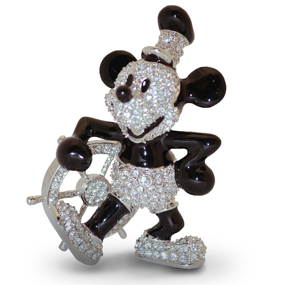 Mickey Mouse Steamboat Willie Jeweled Figurine by Arribas