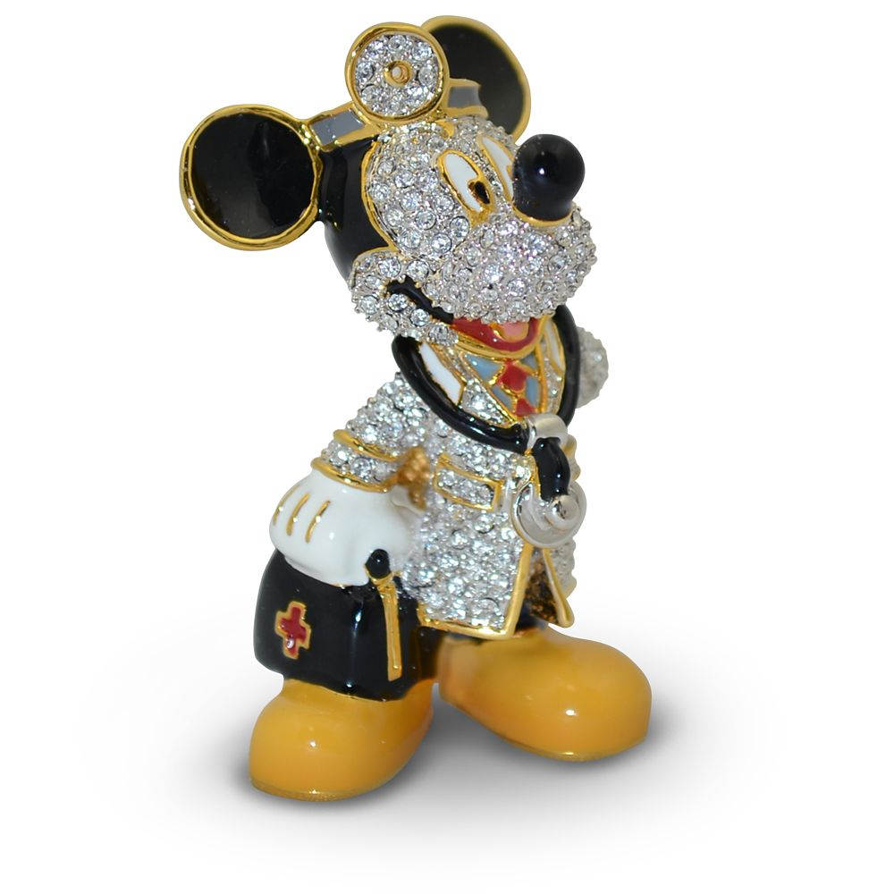 Mickey Mouse Doctor Jeweled Figurine by Arribas