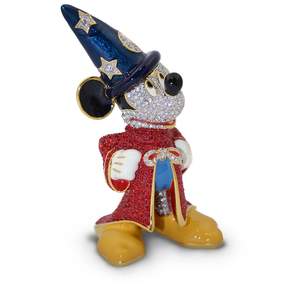 Sorcerer Mickey Mouse Jeweled Figurine by Arribas – Large