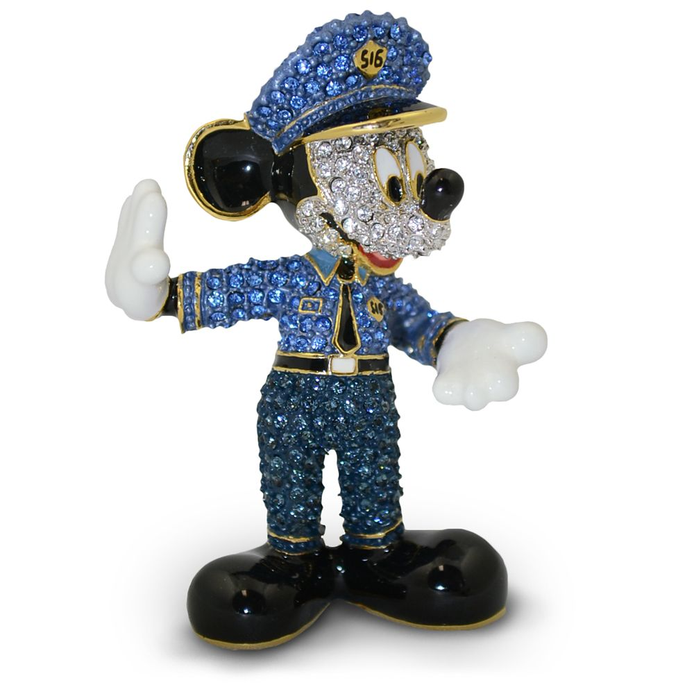 Mickey Mouse Policeman Jeweled Figurine by Arribas Brothers
