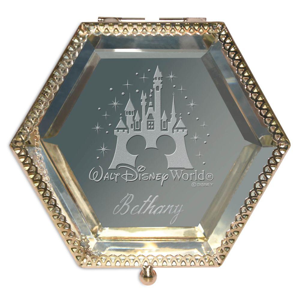 Walt Disney World Castle Glass Jewelry Box by Arribas – Personalized