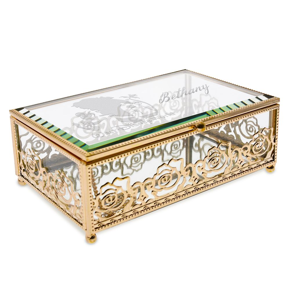 Beauty and the Beast Glass Jewelry Box by Arribas – Personalized