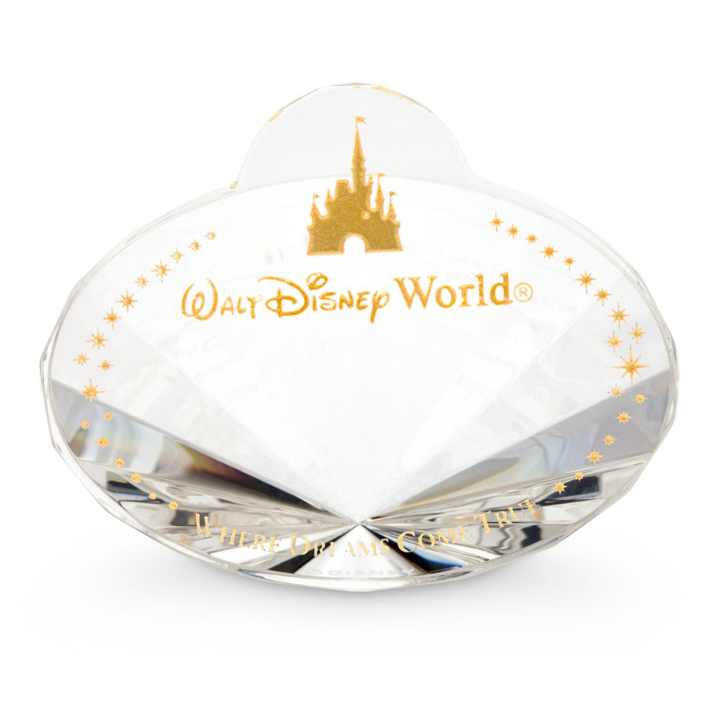 Walt Disney World Nametag Crystal Paperweight by Arribas – Personalized