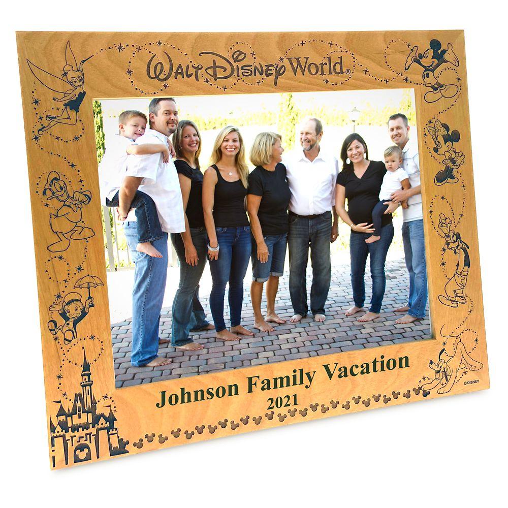 Walt Disney World Wood Frame by Arribas – 8'' x 10'' – Personalized