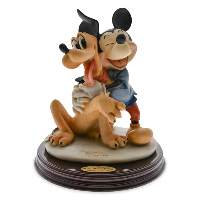 Mickey Mouse and Pluto Figurine by Giuseppe Armani