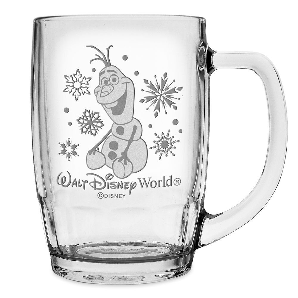 Olaf Glass Mug by Arribas – Frozen – Large – Personalized